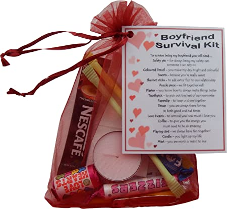 Smile Gifts Uk Boyfriend Survival Kit Great Boyfriend Gift For Valentines Birthday Christmas Anniversary Or Just Because Boyfriend Gifts For Boyfriend Boyfriend Present For Boyfriend Amazon Co Uk Kitchen Home