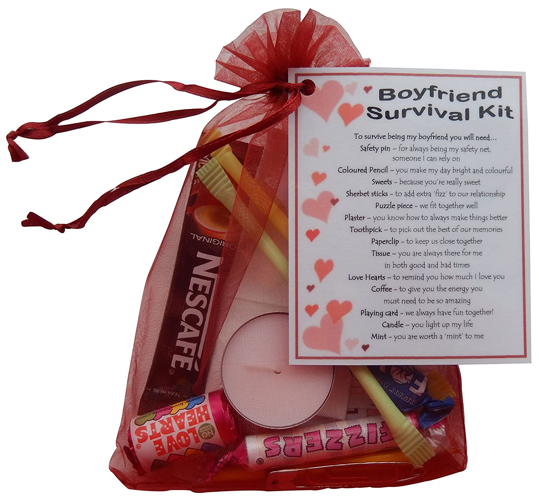 Boyfriend Survival Kit Gift (Great novelty present for Valentines ...