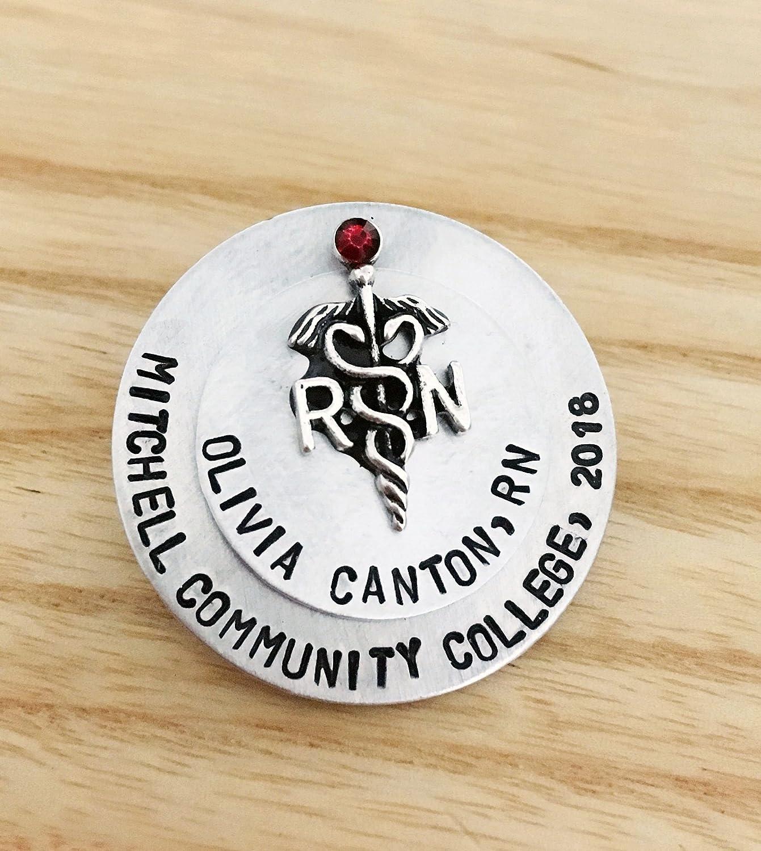 Registered Nurse Pin, Pinning Ceremony, Custom Stacked Nurse Pin, Nurse Pin, Nursing School Graduate