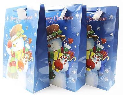 Bolsas de regalo de Navidad, 3 unidades, grandes, con asas ...