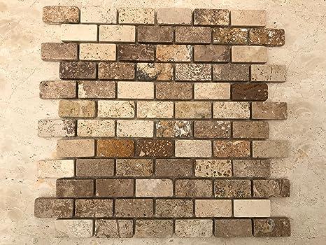 Stone art mosaico in pietra travertino per rivestimento pareti