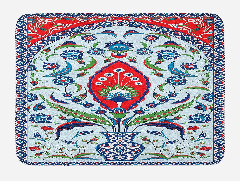 "Floral Patterns Bath Mat Bathroom Decor Plush Non-Slip Mat 29.5/"" X 17.5/"""