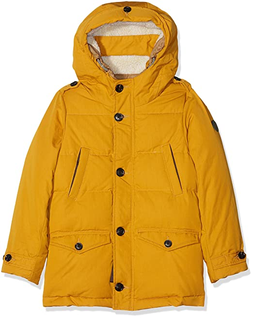 Scotch&Soda Shrunk Teddy Lined Coat, Manteau Gar?on, (Honey 474), 164 (Taille Fabricant: 14)