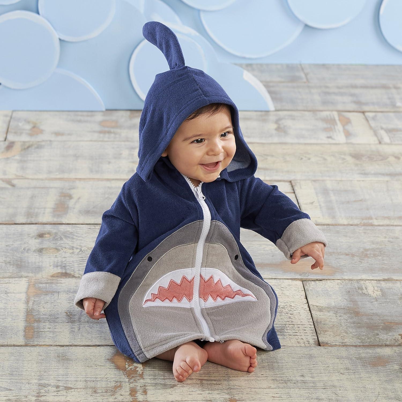 Baby Aspen Shark Hooded Beach Zip Up Cute /& Ultra Soft 100/% Terry Cotton Towel Hoodie