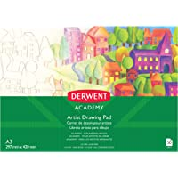 DERWENT R310480 Academy Drawing Pad, A3 Landscape, 50 Sheets