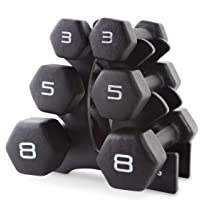 Cap Barbell Neoprene Dumbbell Set with Rack 32-Pound (Black)