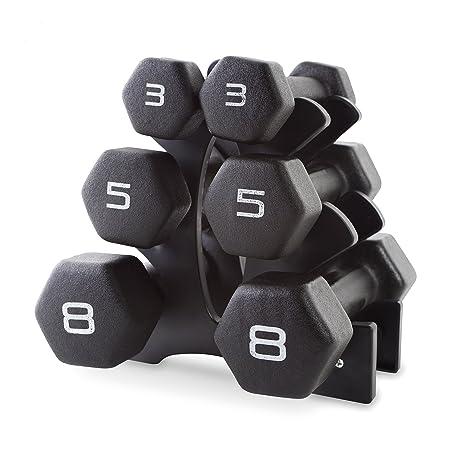 CAP Barbell Neoprene Dumbbell Set with Rack