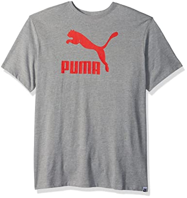 d232cc32edc Puma Men's Archive Life T-Shirt, Medium Gray Heather/Flame Scarlett, L:  Amazon.in: Clothing & Accessories