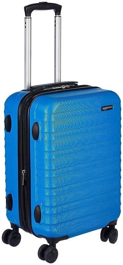 27a50cf2d AmazonBasics - Maleta de viaje rígida giratori - 55 cm, Tamaño de cabina,  Azul