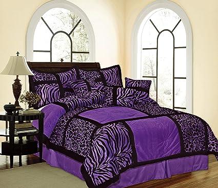 Amazon.com: Empire Home Safari Printed Leopard Suede Winter ...