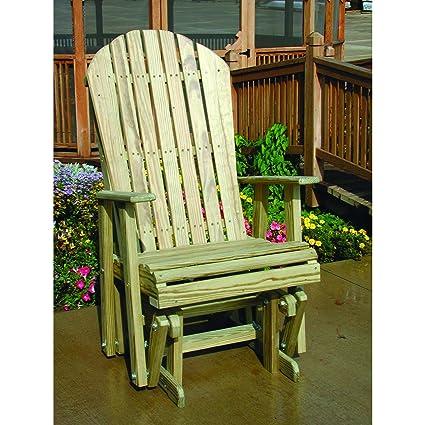 Amazon Com Luxcraft Pressure Treated Wood Adirondack Glider Chair
