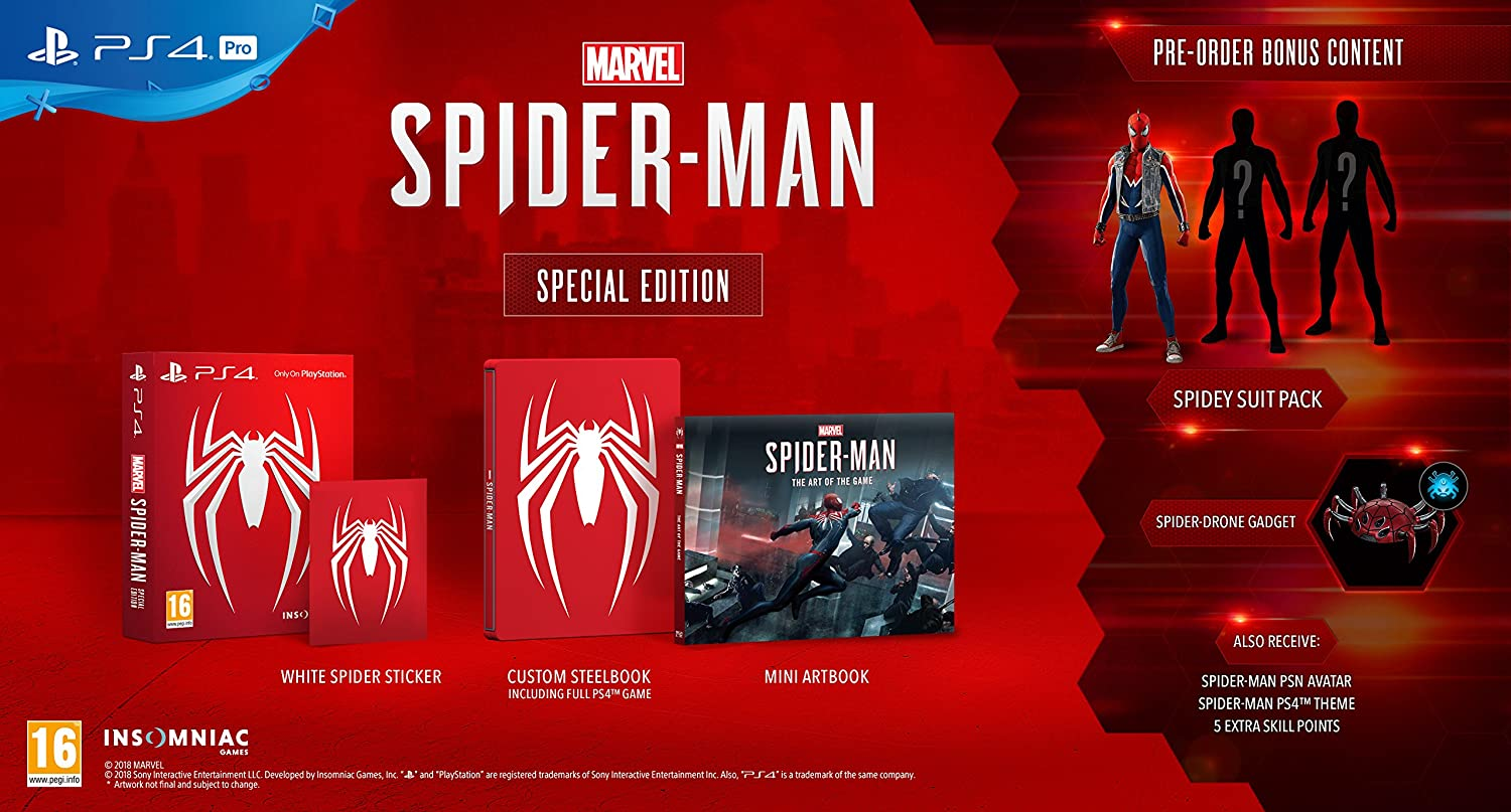 Marvel's Spider-Man: Special Edition (PS4): Amazon co uk: PC & Video