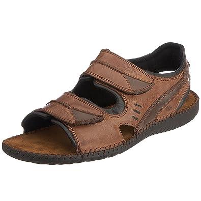 c4f4a1542430 Josef Seibel Rafe Brown Black Mens Nubuck Summer Slingback Sandals Sandalen