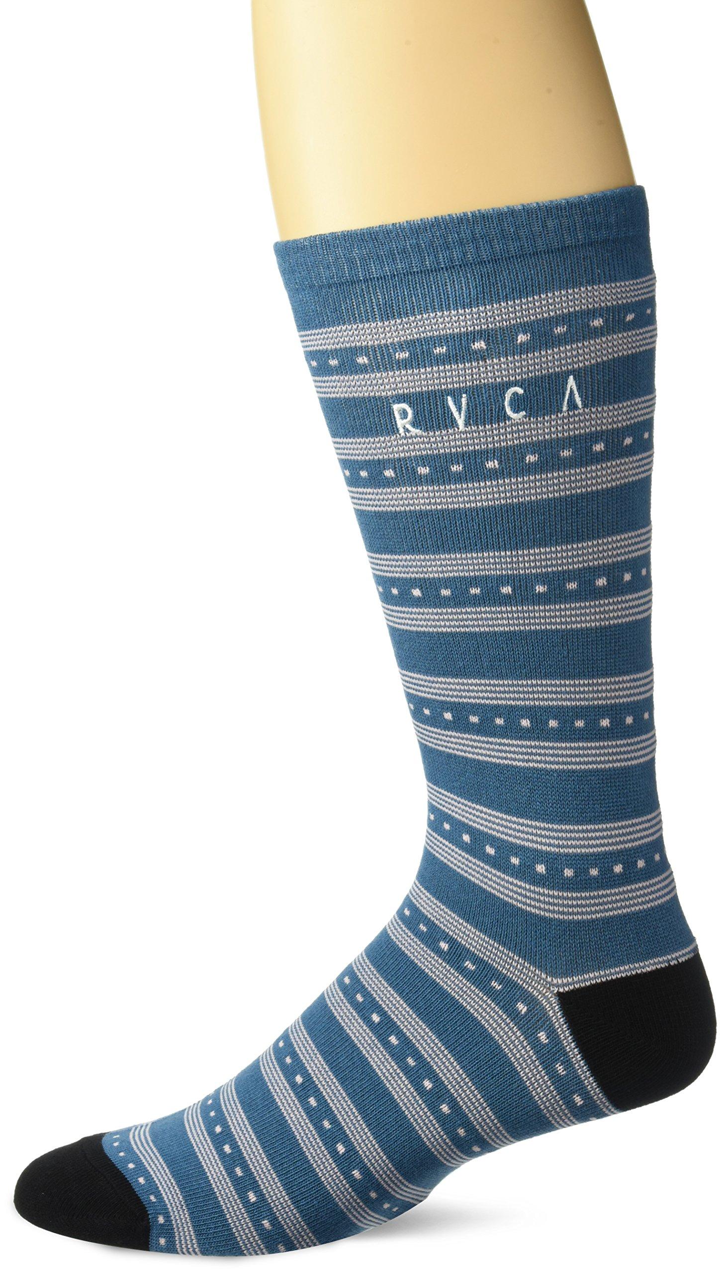 RVCA Men's Harper Socks, Blue Tide, EA