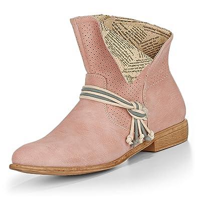 Rieker Y2556 Damen Sommer Stiefeletten , Schuhgröße:41;Farbe:Rosa