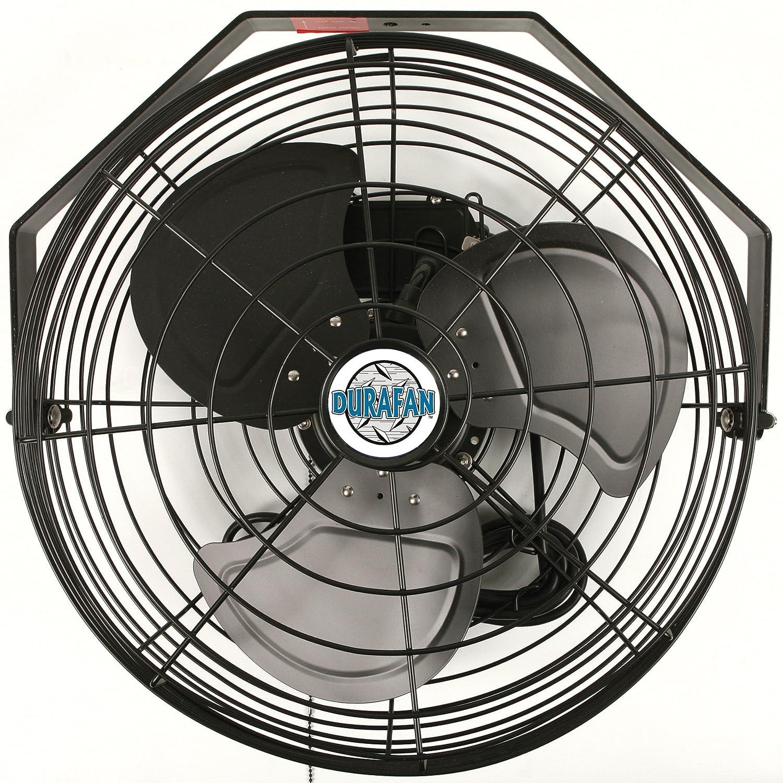 18 Durafan Indoor//Outdoor Circulating Fan with Wide Guard Black