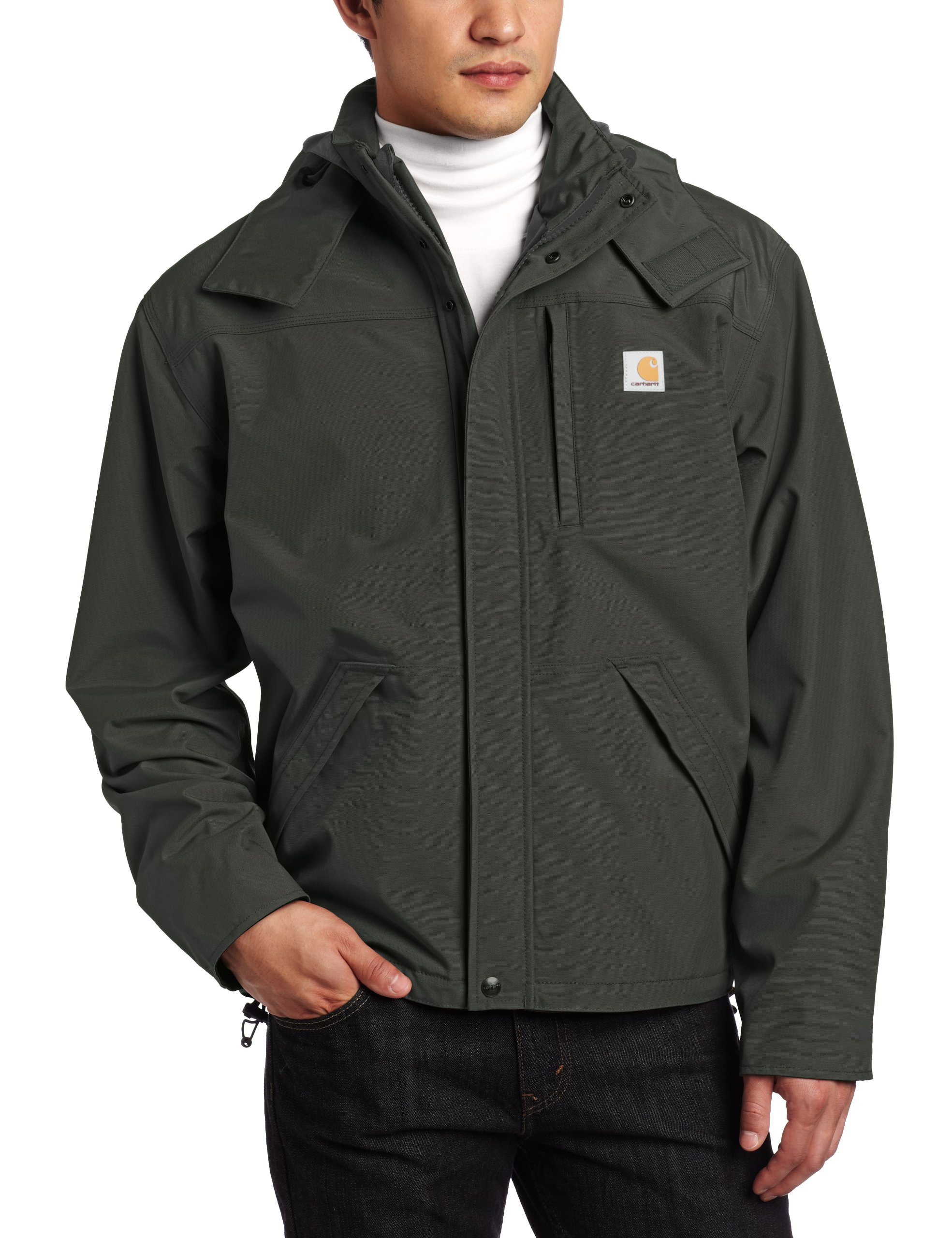 Carhartt Men's Shoreline Jacket Waterproof Breathable Nylon,Olive,Small