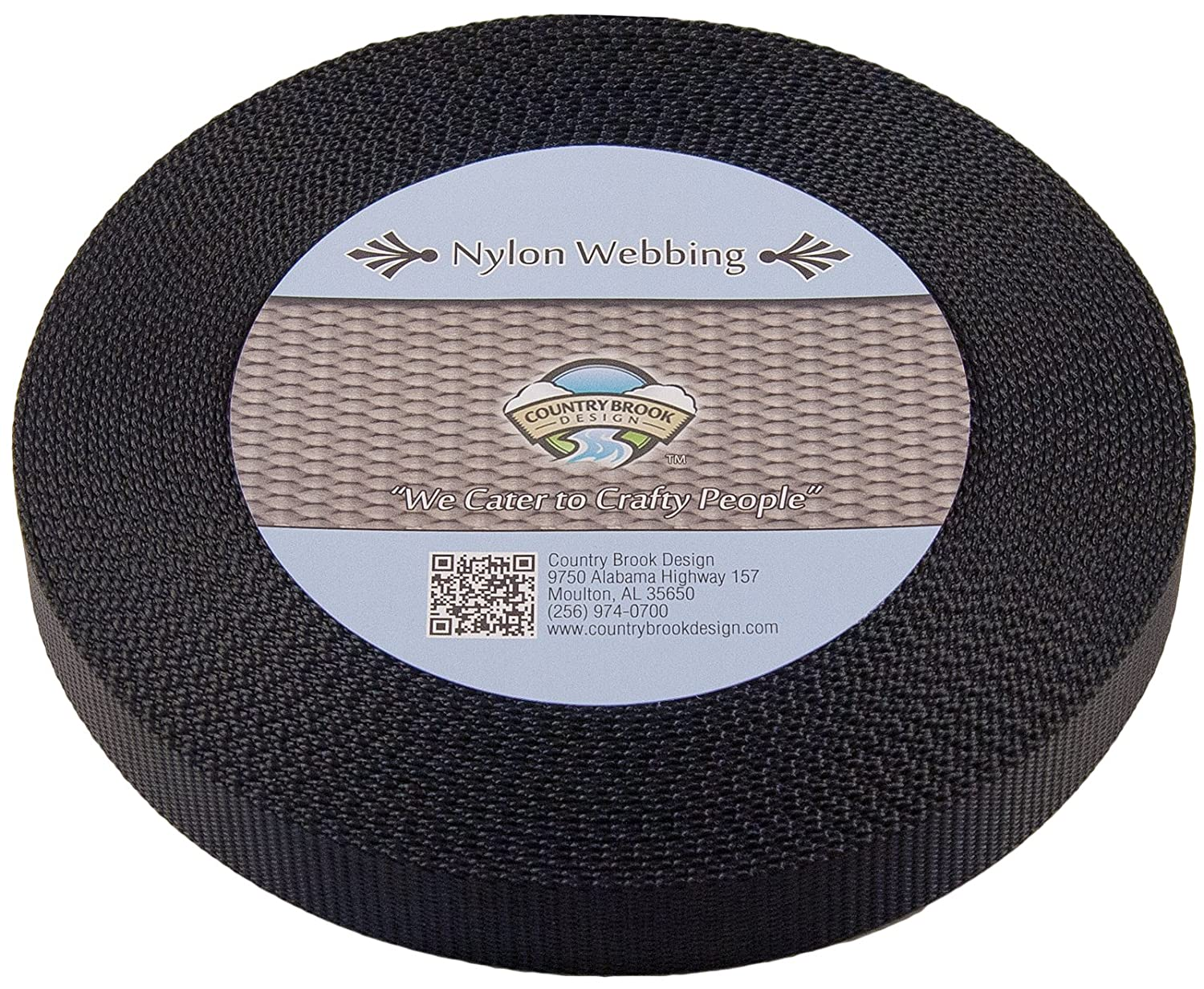 amazon com country brook design 3 4 inch black nylon heavy amazon com country brook design 3 4 inch black nylon heavy webbing 10 yards climbing webbing sports outdoors