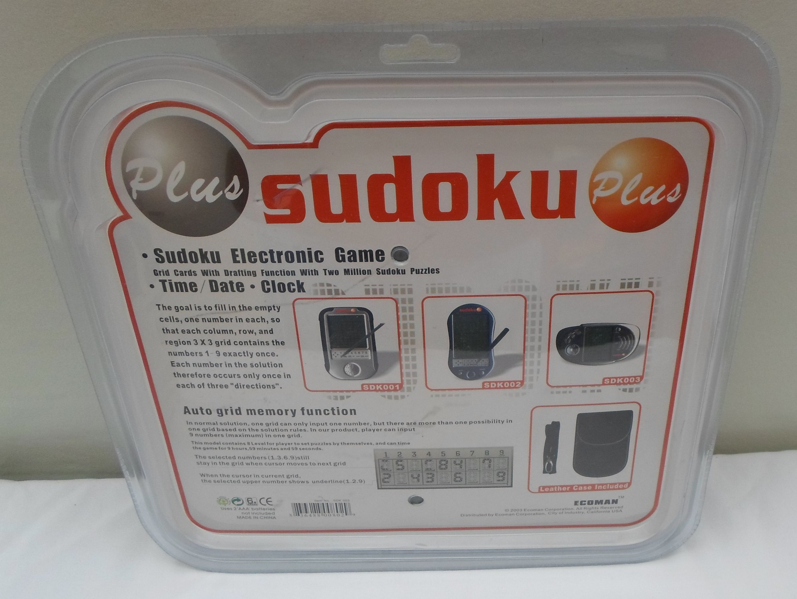 Sudoku Plus Electronic Game with 2,000,000 Games