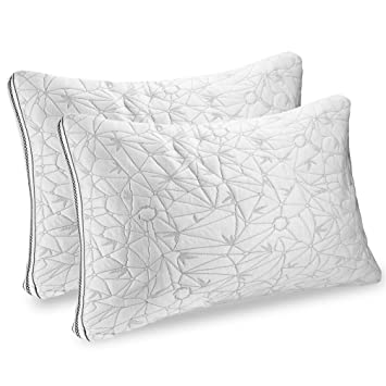 Amazon.com: Nestl Bedding Almohada de gel de bambú ...