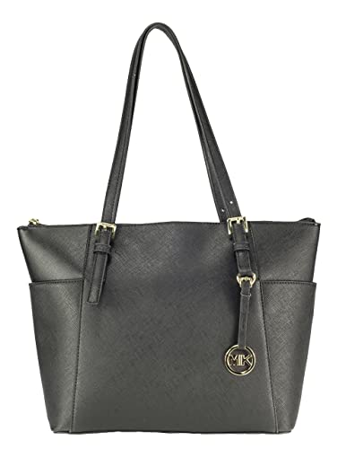 78f36292f453b MIK Trendy Damen Schultertasche Handtasche PU-Ledertasche Grob (Black)