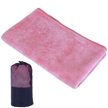 Febbya Toallas de Microfibra,Compacto Ultraligero Toallas de Deportivas para Hombre Mujer Toalla con Bolsa