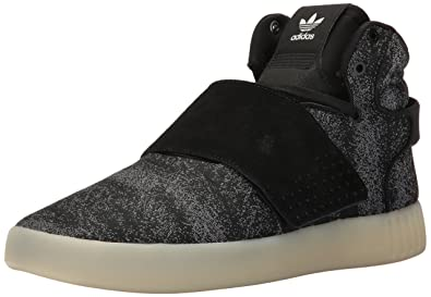 adidas Originals Men s Tubular Invader Strap JC Running Shoe Black Crystal  White 9adad59cc