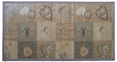 Tappeto passatoia da cucina camera o bagno bamboo stampato in 100