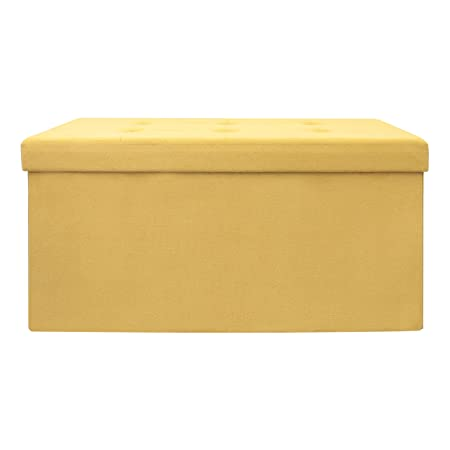 76,50 x 37,50 x 37,50 cm Poliestere The Home Deco Factor Cassapanca Pieghevole 50/x 37 Poliestere 76 50/cm Beige