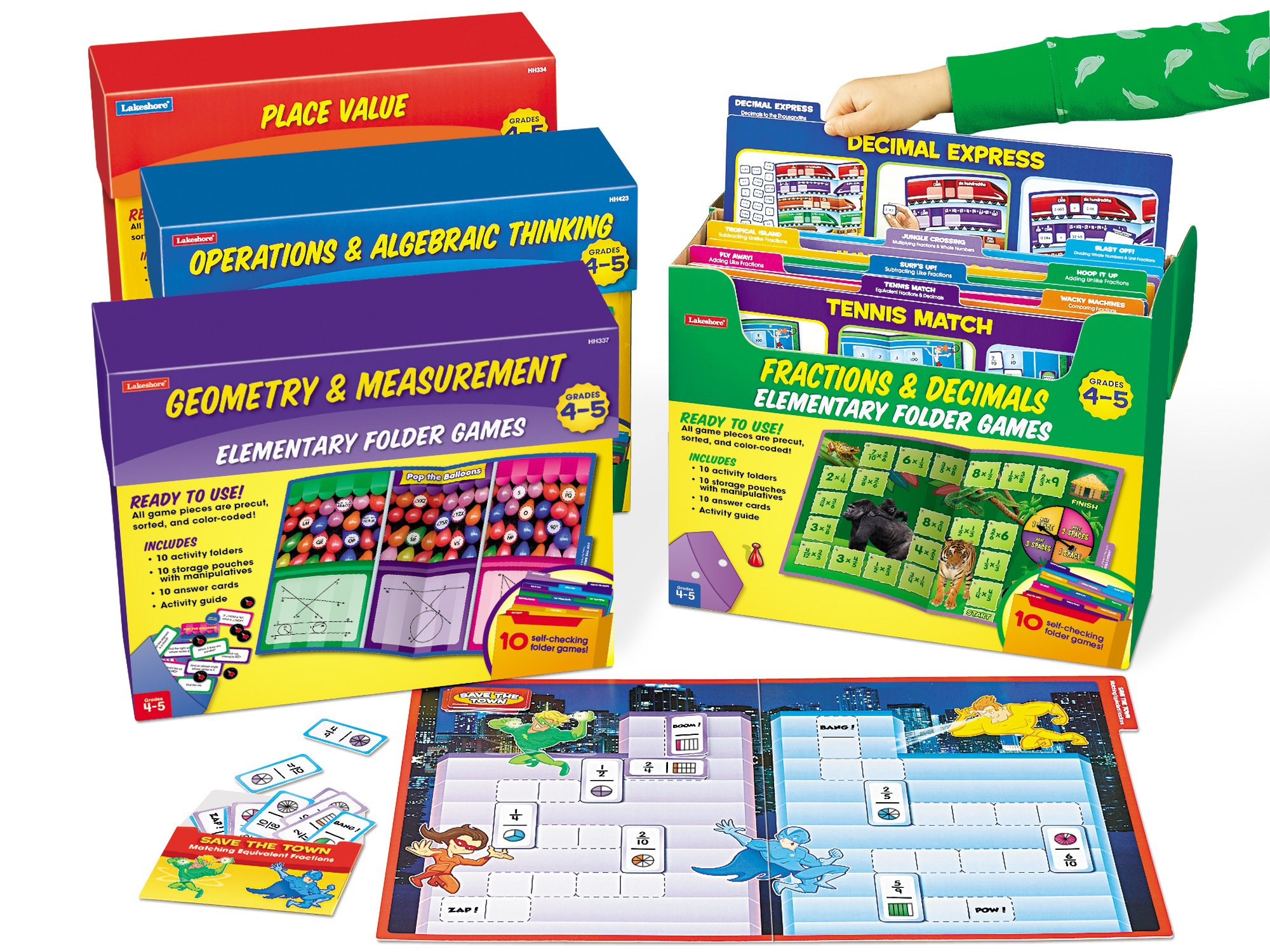 Lakeshore Math File Folder Game Libraries - Gr. 4-5 - Complete Set