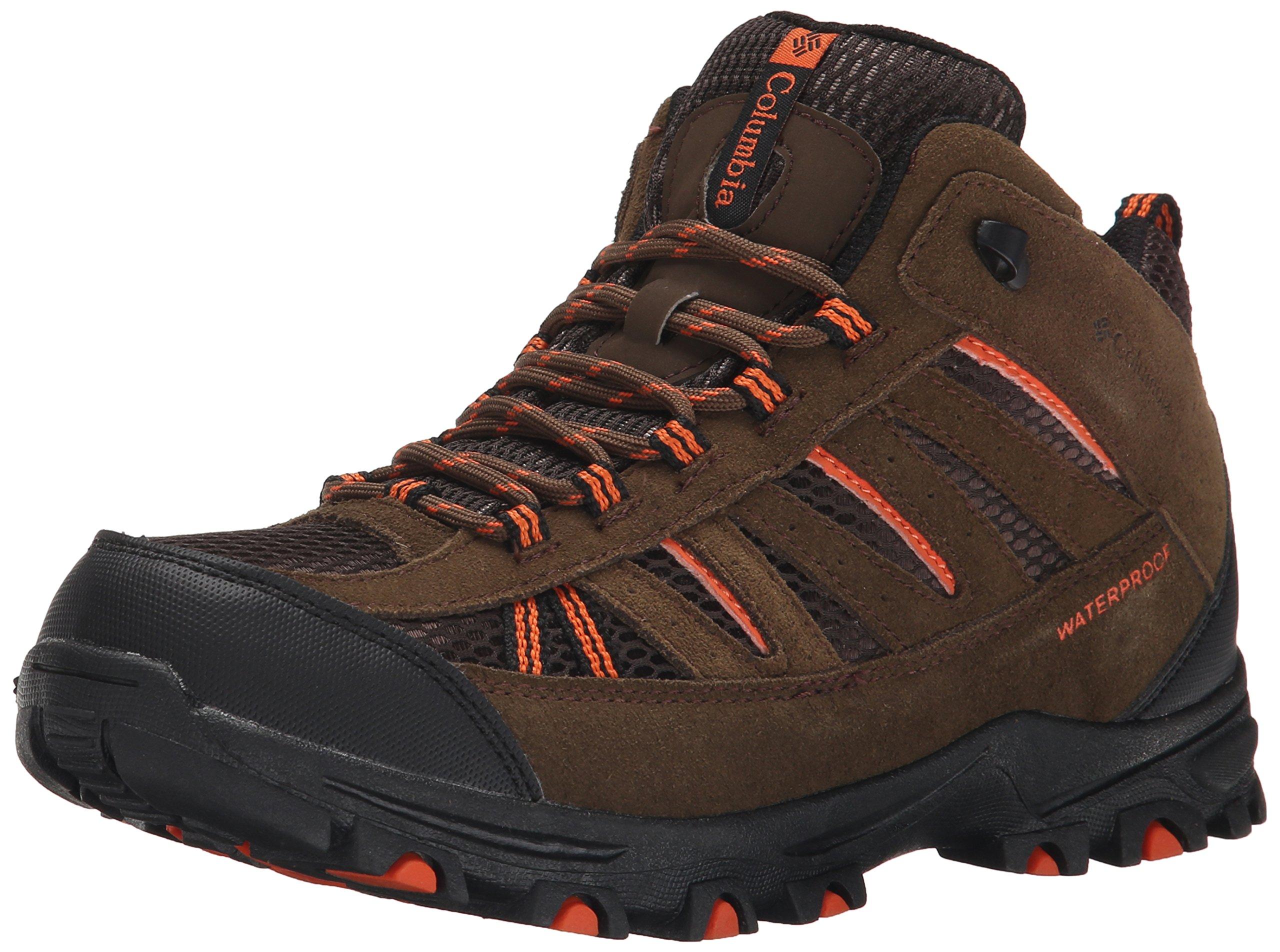Columbia Youth Pisgah Peak Mid WP Trail Shoe (Little Kid/Big Kid), Mud, 1 M US Little Kid