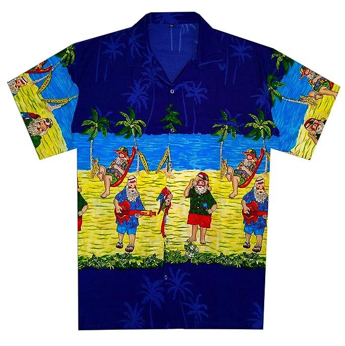 Christmas Hawaiian Shirt Womens.Christmas Hawaiian Shirt For Men Women Santa Beach Vacation Party Casual Shirt