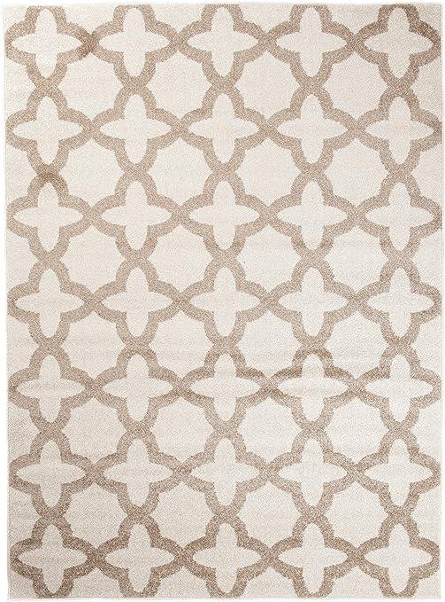 Plusieurs Coloris /& Tailles  CASABLANCA  60 x 100 cm Carpeto Motif De Treillis Marocain Design Moderne /& Traditionnel Parfait Pour La Chambre Gris Blanc Petit Tapis De Salon