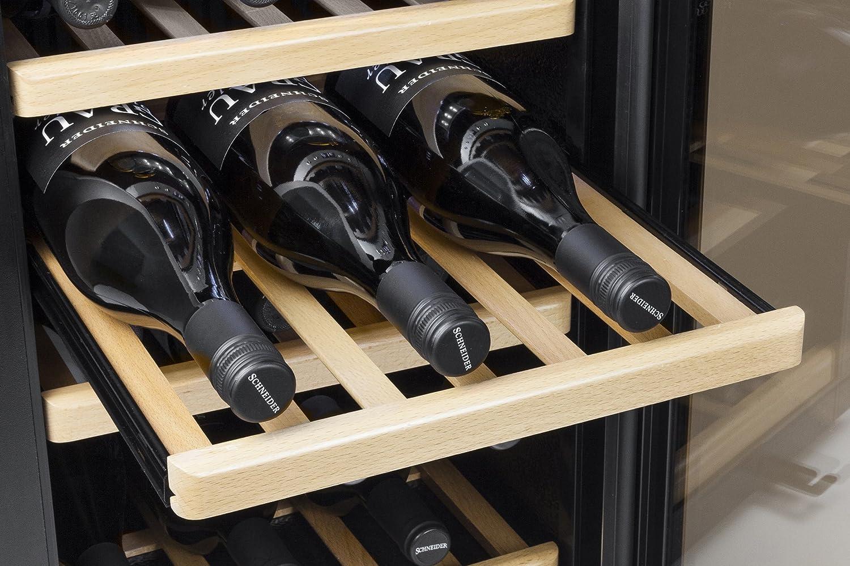 Enfriador de vino Independiente, Acero inoxidable, Negro, 5-22 /°C, 40 Db, 120W Caso WineMaster66