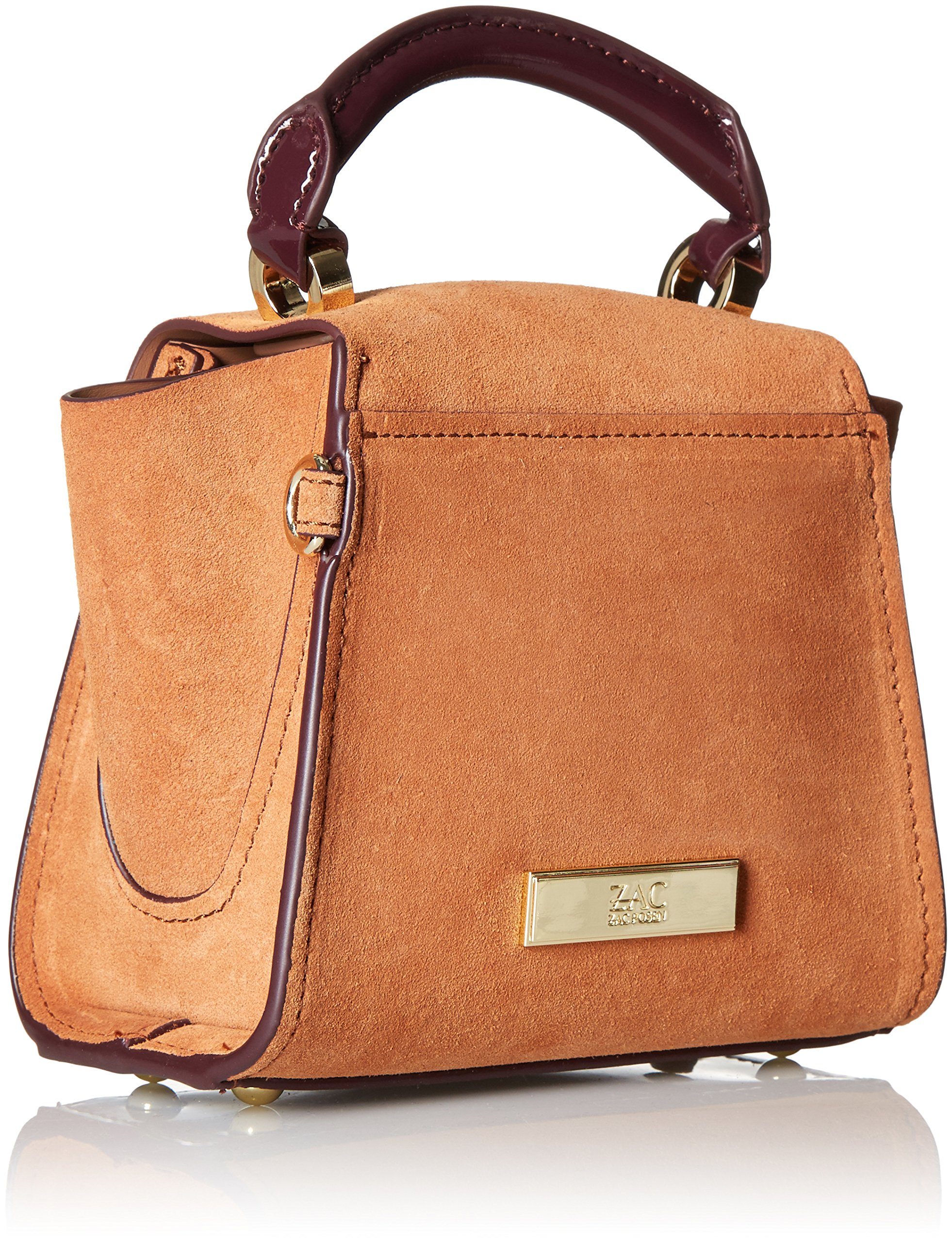 ZAC Zac Posen Eartha Iconic Top Handle Mini-Suede Colorblock W/ Baglace by ZAC Zac Posen (Image #2)