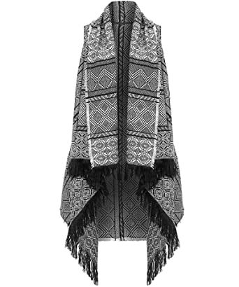 Black And White Aztec Sweater Tribal Sweaterwaterfall Cardiganaztec
