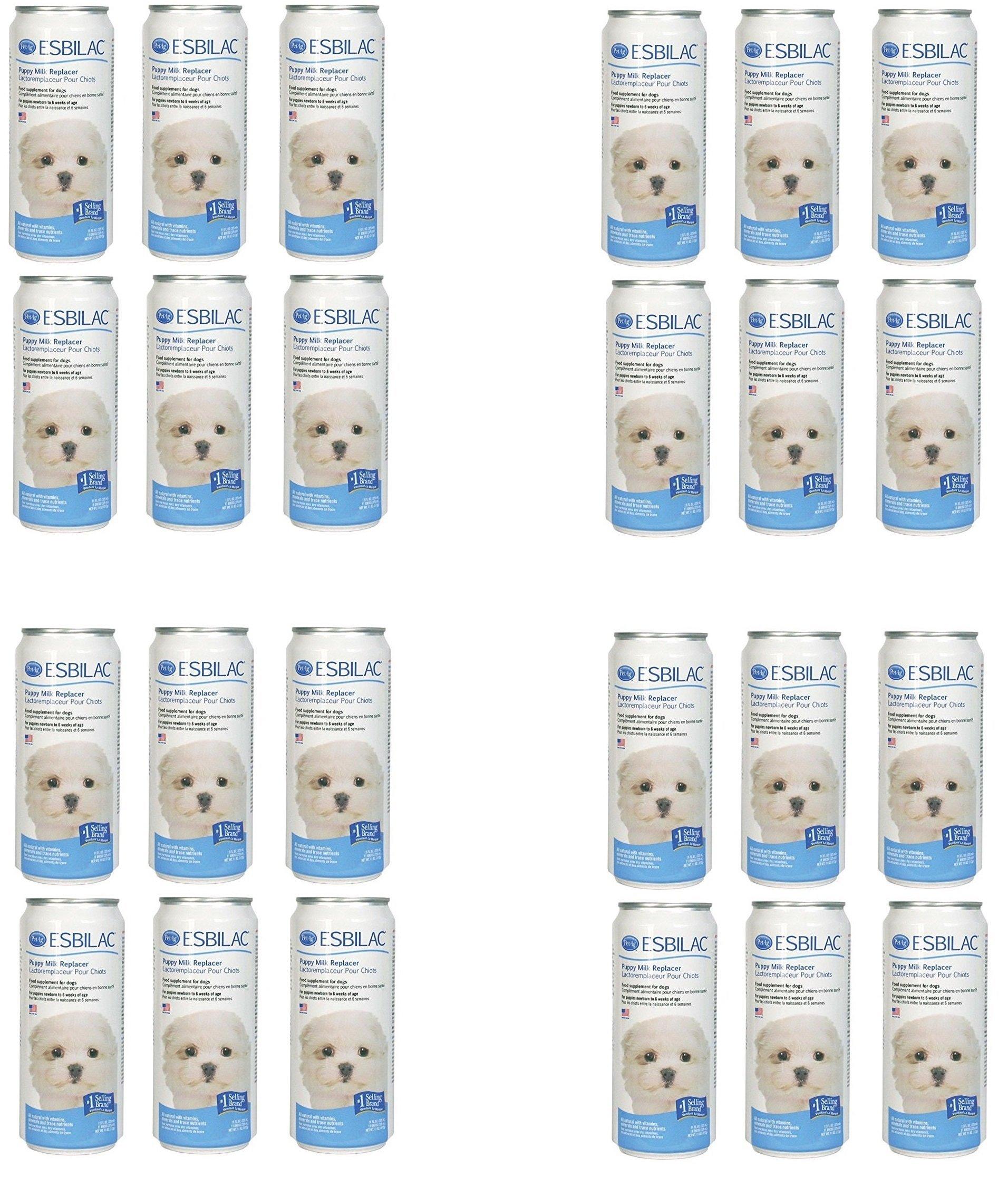 (Case of 24) Esbilac Liquid for Puppies, Milk Replacer - 11 Ounces each