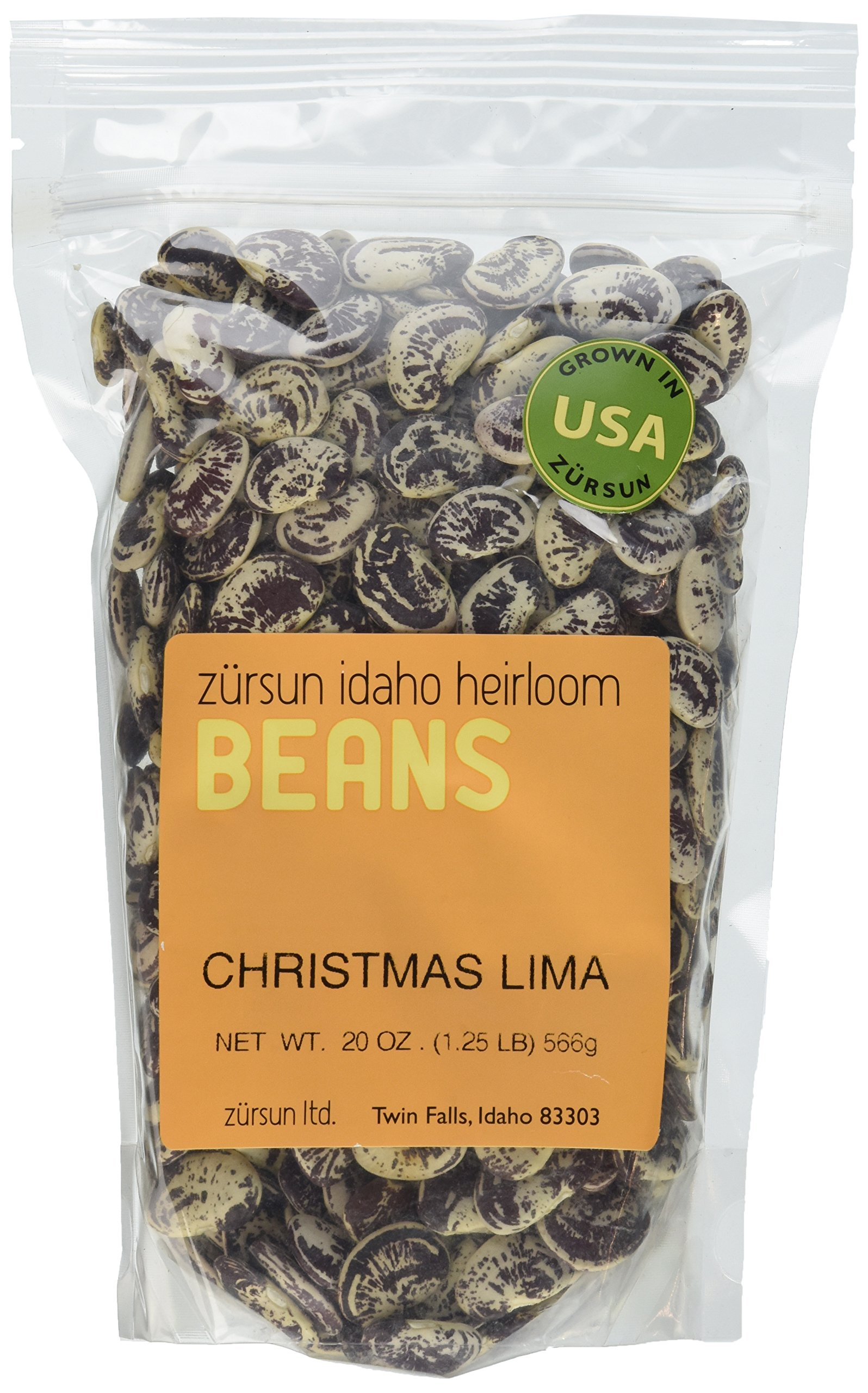 Heirloom Christmas Lima Beans Idaho Pack of 2 566 g 20 oz each by Zursun Ltd.
