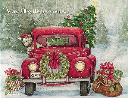 lang boxed christmas cards santas truck artwork by susan winget - Christmas Cards