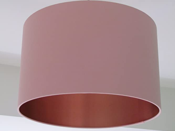 Handmade pale pink brushed copper lined lampshade lightshade amazon handmade pale pink brushed copper lined lampshade lightshade aloadofball Choice Image