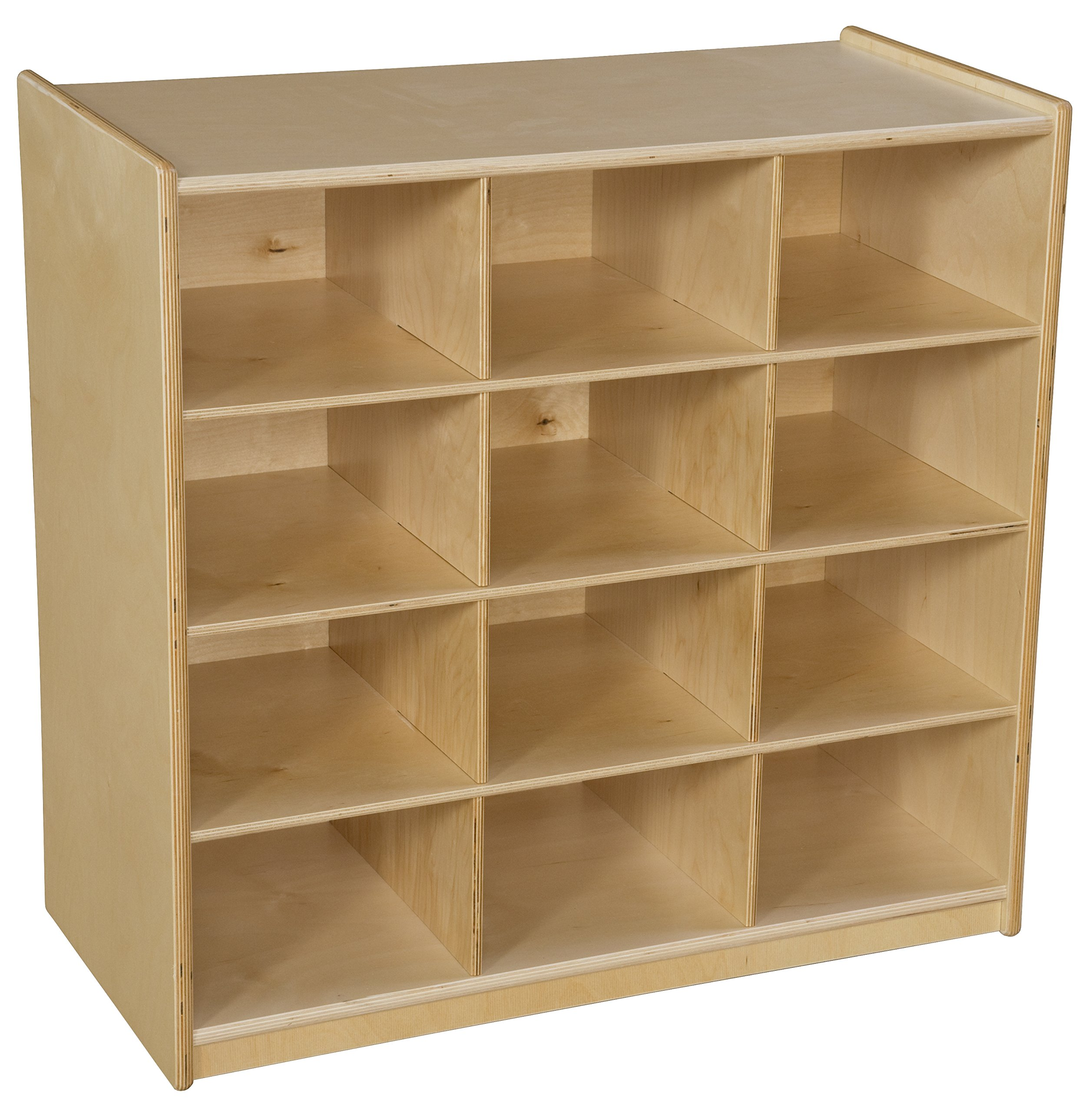 Wood Designs 16129 12 Cubby Storage without Trays