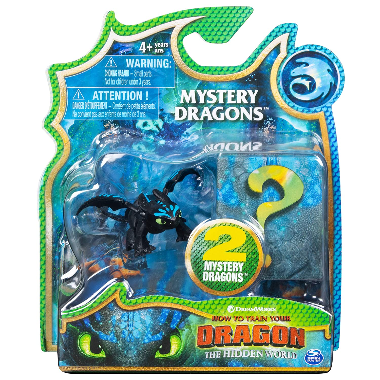 How to Train Your Dragon, The Hidden World - Mystery Dragons (2 Pack) (Toothless)