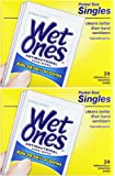 WET ONES Moist Towelette Antibacterial Citrus Singles...