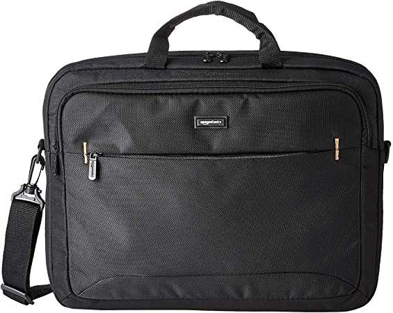 Compatible with The HP 17-by0023na 17.3 Laptop Navitech Black Sleek Premium Water Resistant Laptop Bag