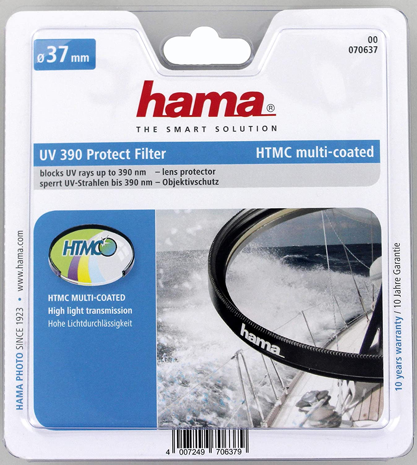 Hama 070637 Filtro UV HTMC 390 O-Haze Color Transparente 37.0 mm