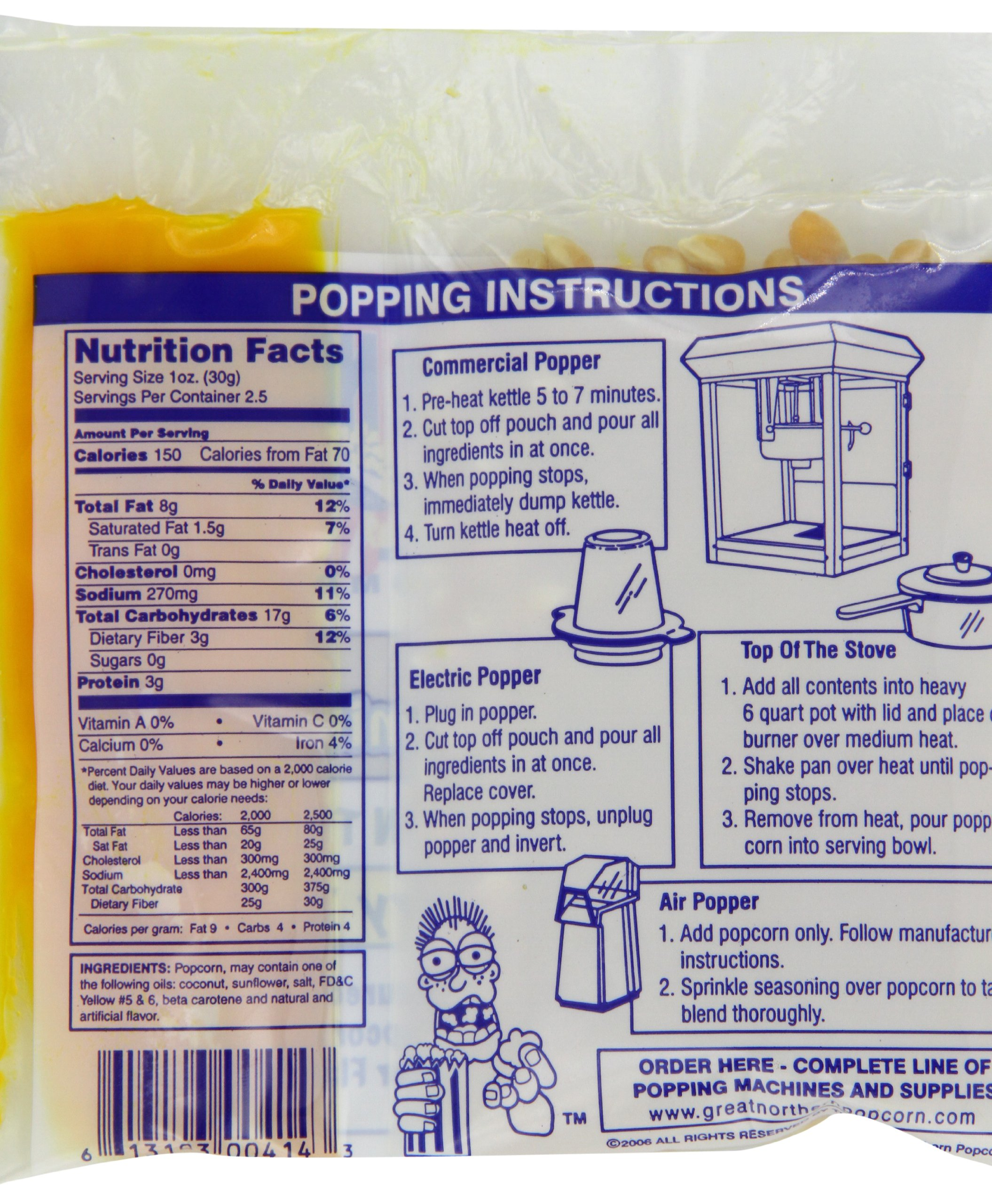 4099 Great Northern Popcorn Premium 2.5 Ounce Popcorn Portion Packs, Case of 24 by Great Northern Popcorn Company (Image #4)