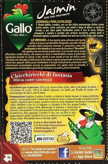 gallo - jasmin, riso thai profumato , 500 g: amazon.it: alimentari ... - Come Cucinare Il Gallo