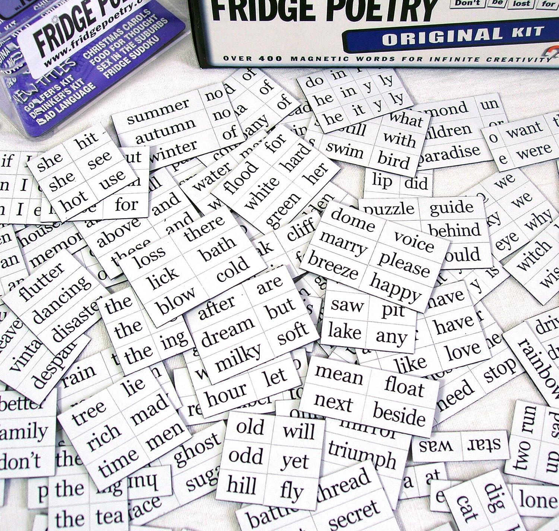 Juego de imanes para frigorífico con palabras en inglés: Amazon.es: Hogar
