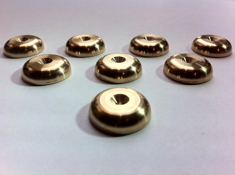 Solid Spikes Set of eight Brass HiFi Speaker Spike Rad Pads LYSB00I2PBMFM-ELECTRNCS