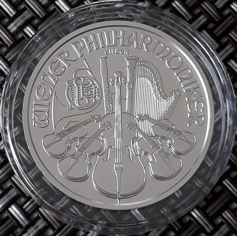 1 onza oz Plata Viena Philharmoniker 2020 individualmente en cápsulas de monedas empaquetado